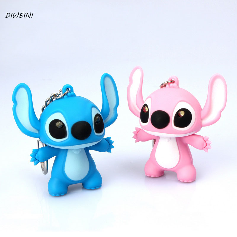 lilo stitch key chain bag pendant cartoon soft toy vinyl doll