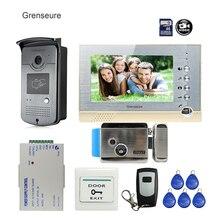 Discount! FREE SHIPPING New 7″ Screen Recording Video Door Phone Intercom System + Outdoor RFID Access Door Camera + Electric Lock + 8G SD