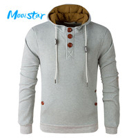 Mooistar #L030 Spring and Autumn Men's Even The CAP Sweatshirt Winter Warm Clothe