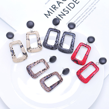 2019 Best Selling Small Fresh Leather Drop Earrings &4 Color Simple Leopard Brincos For Women Jewelry Clothing Accessories Gift