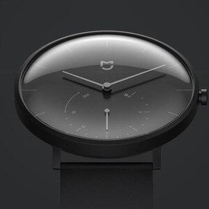 Image 2 - Смарт часы Xiaomi Mijia Quartz, водонепроницаемые умные часы с корпусом из нержавеющей стали, 3ATM, шагомер, умная вибрация