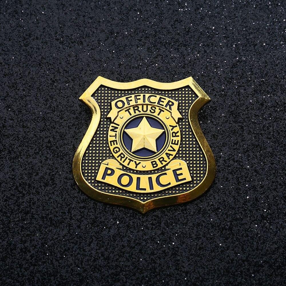 Cosplay Movie Zooto Pia Judy Hopps Cosplay Badge Police Badge Brooch Bunny Judy Badge Pins Jewelry Cosplay Pin Accessories