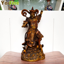 Pure copper bronze Feng Shui ornaments four King Kong kings town house evil spirits gods statue