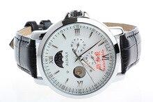 2016 Новое Прибытие 100 м Водонепроницаемый Мужчины Бренда BIAOKA Бизнес Часы Механические Мужчины Повседневная Кожа Золото Скелет Наручные Часы