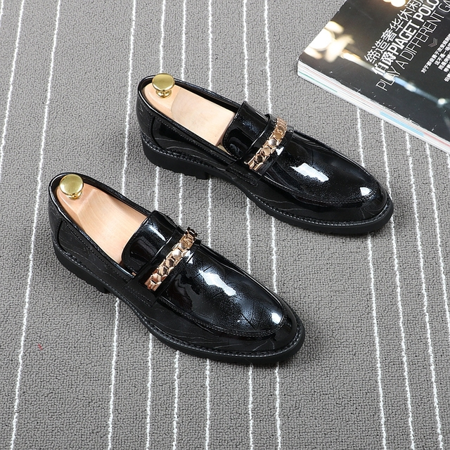 CUDDLYIIPANDA 2019 Men Fashion Loafers Spring Men Wedding Night Club Smoking Sneakers Zapatos Hombre British Style Men Shoes