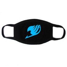 Унисекс хлопковая Пылезащитная маска для рта аниме Сказочный хвост меч Наруто искусство онлайн защита от пыли лицевая маска дышащая светящаяся маска для лица