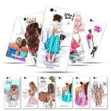 Silicone Cases for ZTE Blade A610 Case Cover ZTE Voyage 4 V6 Max BA610T BA610C A 610 5.0 Soft Black Brown Hair Baby Mom Girl phone cases for zte blade v7 lite case silicone cover zte v6 plus zte blade a2 bv0720 5 0 bags black brown hair baby mom girl