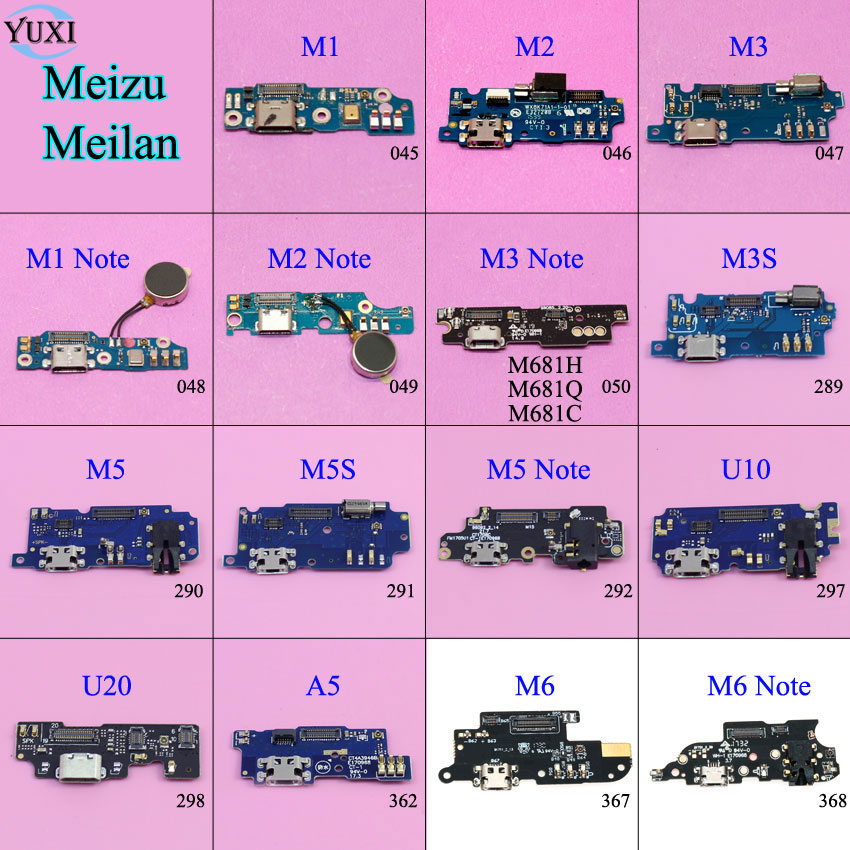 YuXi Micro Dock Connector Board USB Charging Port Flex Cable Replacement For Meizu Meilan M1 M2 M3 M5 M6 Note M3S M5S U10 U20 A5