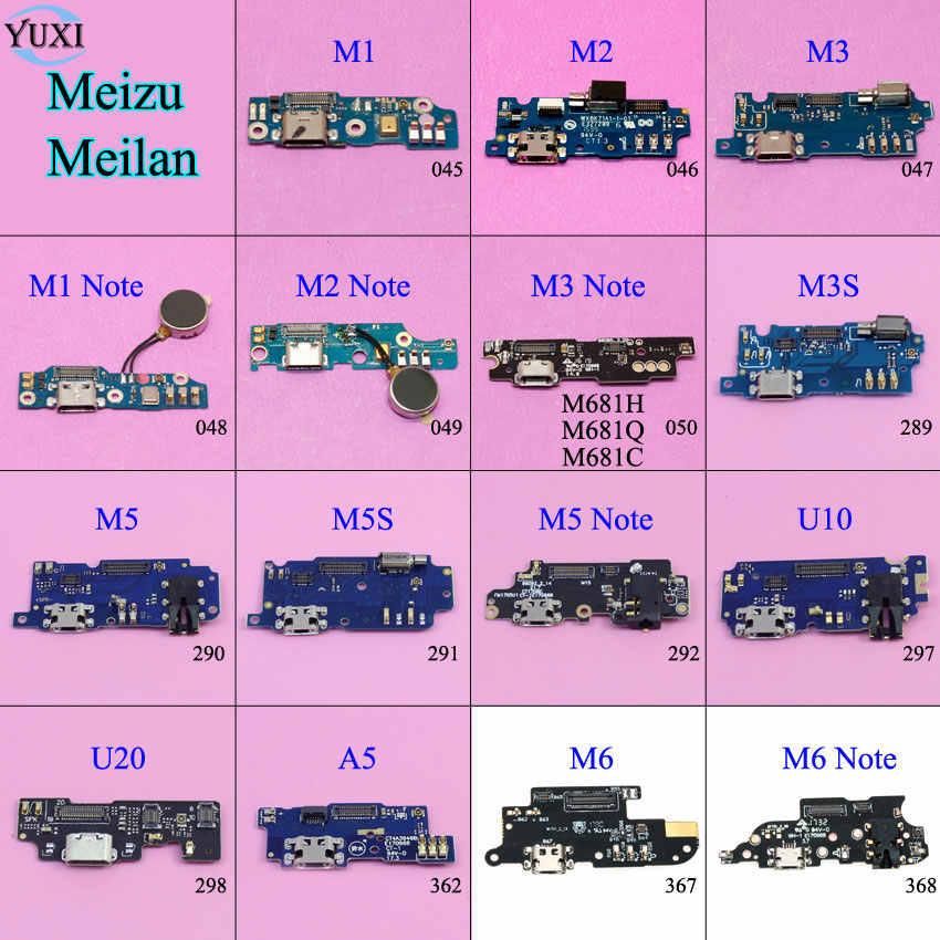 YuXi Micro Dock Konektor Papan USB Port Kabel Pengisian Daya Fleksibel Pengganti untuk Meizu Meilan M1 M2 M3 M5 M6 Catatan m3S M5S U10 U20 A5