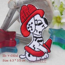 Iron On Patches CustomDog Firefighters Appliques Eco-friendly Handmade 3D Appliqued for Clothing Parch Embroidery Bordados