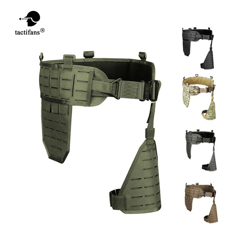 TACTIFANS Molle Padded Modular Belt Sleeve Tactical Inner Belt Drop Leg Platform Panel, Hip Panel Laser Cutting PALS Combo-in Waist Support from Sports & Entertainment    1