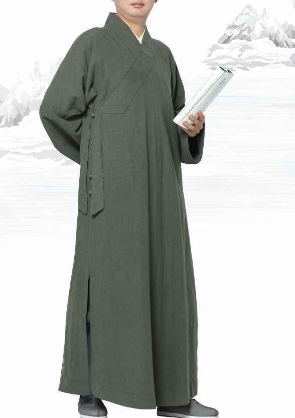 ユニセックス 6 色ラミー仏教禅服少林寺僧侶制服レイ瞑想スーツカンフーローブカーキ/グリーン/ グレー