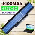 4400 mah bateria do portátil para acer aspire 5732 4732z 5516 5517 as09a31 as09a41 as09a51 as09a61 as09a71 as09a75 emachine d525 d725
