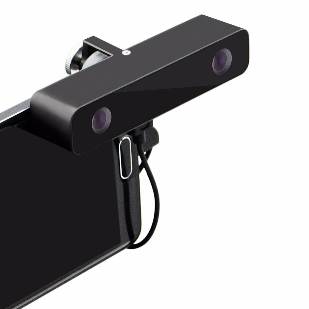 ELP noir grand Angle double lentille réalité virtuelle HD Mini caméra vidéo 3D VR externe Micro Usb câble caméra pour téléphone Android