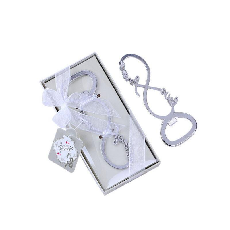 Wedding Party Favors And Souvenirs Gift Silver Color Forever Love Letter Bottle Opener Beer Openers LX4454