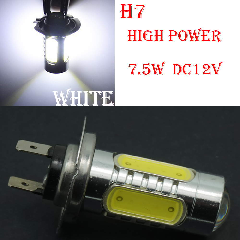 CQD-Light 1PCS h7 led high power 7.5W Car LED Front Headlights High Power Light Fog Bulb Lights Lamp 12V White