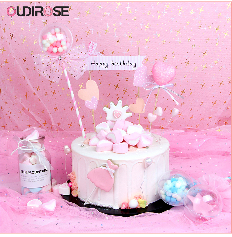 Swell Happy Birthday Girl Boy Cake Topper Pink Fairy Magic Wand Birthday Funny Birthday Cards Online Eattedamsfinfo