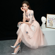 Lady Party Dress Oriental Women's Lace Cheongsam Chinese Style Elegant Long Qipao Sexy Slim Wedding Gowns new arrival 2020
