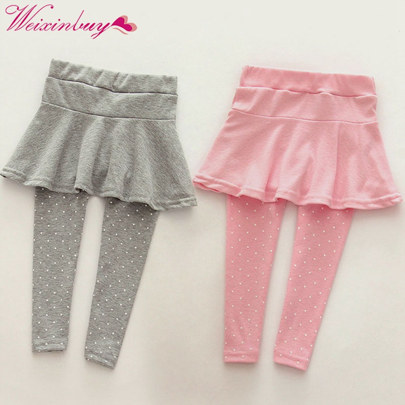 Trendy 6 Colors Toddler Cozy Pantskirt Kids Baby Girls Wool Culotte Kids Child Legging Trousers Winter Autumn ...