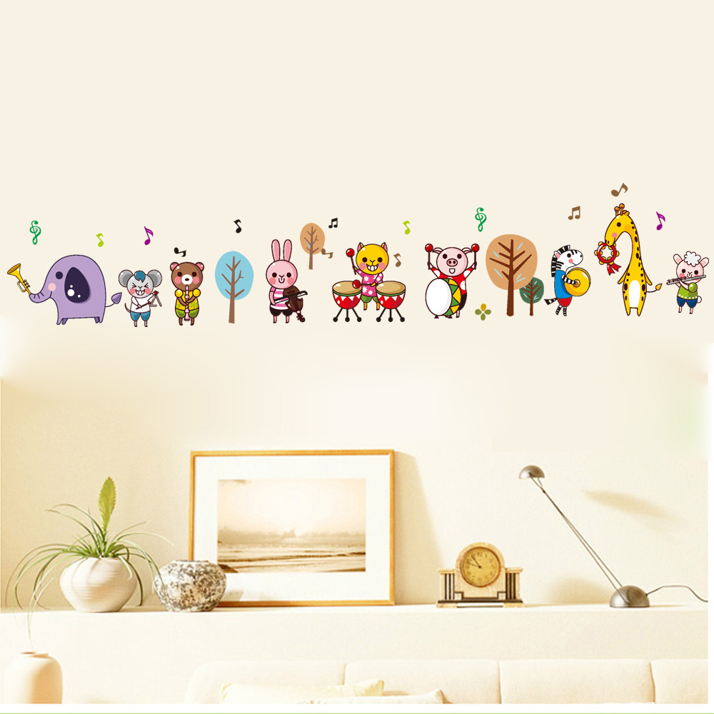 Dsu new arrival cartoon music notes cute animals wall stickers for dsu new arrival cartoon music notes cute animals wall stickers for kids room wall decor wall decals free shipping in underwear from mother kids on amipublicfo Gallery