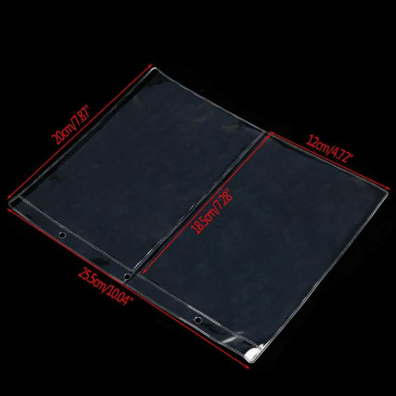 Album Pages 2 Pockets Money Bill Note Currency Holder Storage Collection 1 Sheet