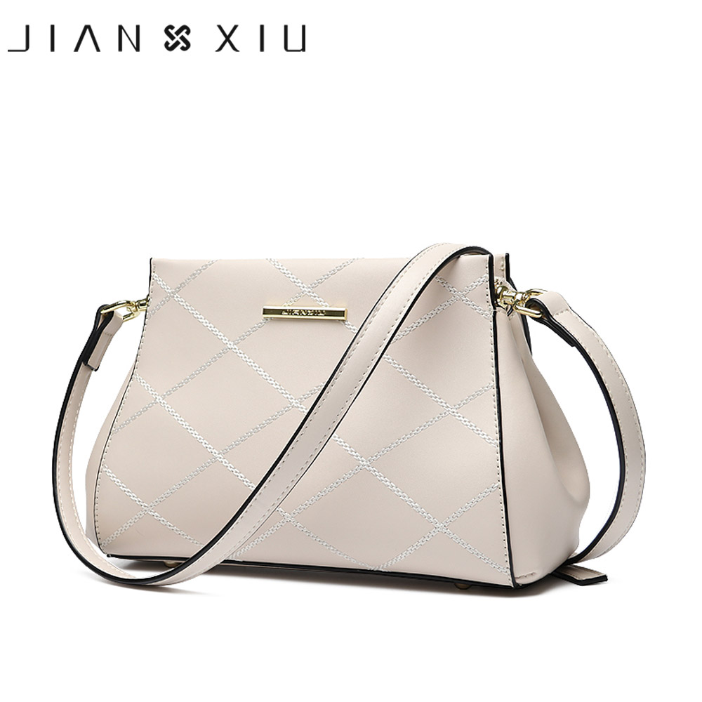 JIANXIU Brand Fashion Women Messenger Bags Split Leather Bag Bolsas Feminina Shoulder Crossbody 2017 Two Solid Colors Small Bags fashion matte retro women bags cow split leather bags women shoulder bag chain messenger bags
