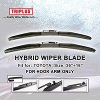 Hybrid Wiper Blade For Toyota RAV4 2012 Onwards 1 Set 26 16 U HOOK Windscreen Wiper
