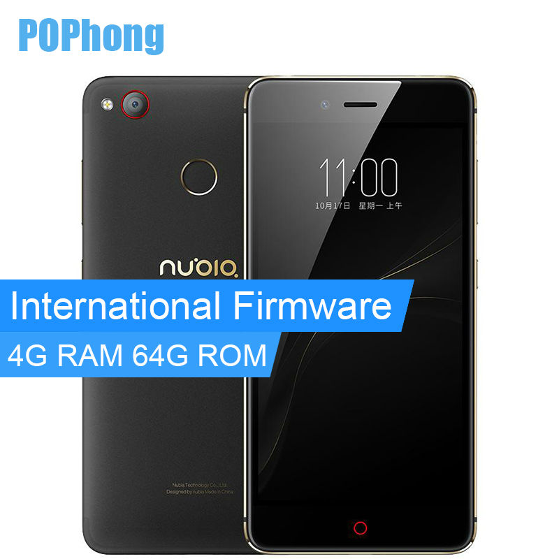 Цена за Международный прошивки zte nubia z11 mini s 64 ГБ rom 5.2 дюймов смартфон 4 ГБ ram android snapdragon 625 octa core 13.0mp + 23.0mp