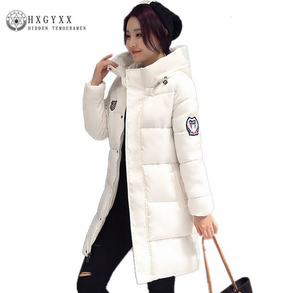 2017 Autumn Winter Jacket Women Cotton-padded Plus Size Winter Coat Thicken Warm Parkas Female Slim Hooded Overcoat SSA1 2017 new autumn winter cotton coats women vintage print long hooded thickening cotton padded jacket warm overcoat plus size z162