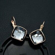 Djm AAA Качество Модные украшения классический блеск серебра Серый цвет кристалл серьги падения для Для женщин(dj0873