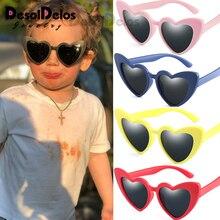 Flexible Polarized Kids Sunglasses Child Black Sun Glasses f