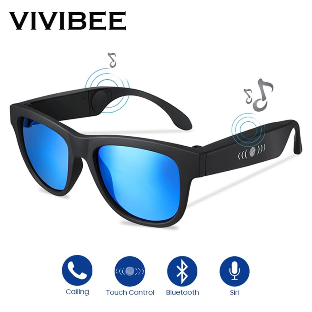 VIVIBEE Conduction Osseuse Lunettes de Soleil Music Zungle 2019 Tendances Produits Smart Hommes Bluetooth Boseframes Lunettes de Soleil pour Femmes