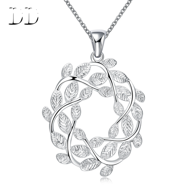 Aliexpress buy silver plated pendant necklaces for women jewelry accessories athens wreath design fashion casual style long link chain hne0160 silver plated pendant necklaces for women jewelry accessories athens wreath design fashion casual style long lin Image collections