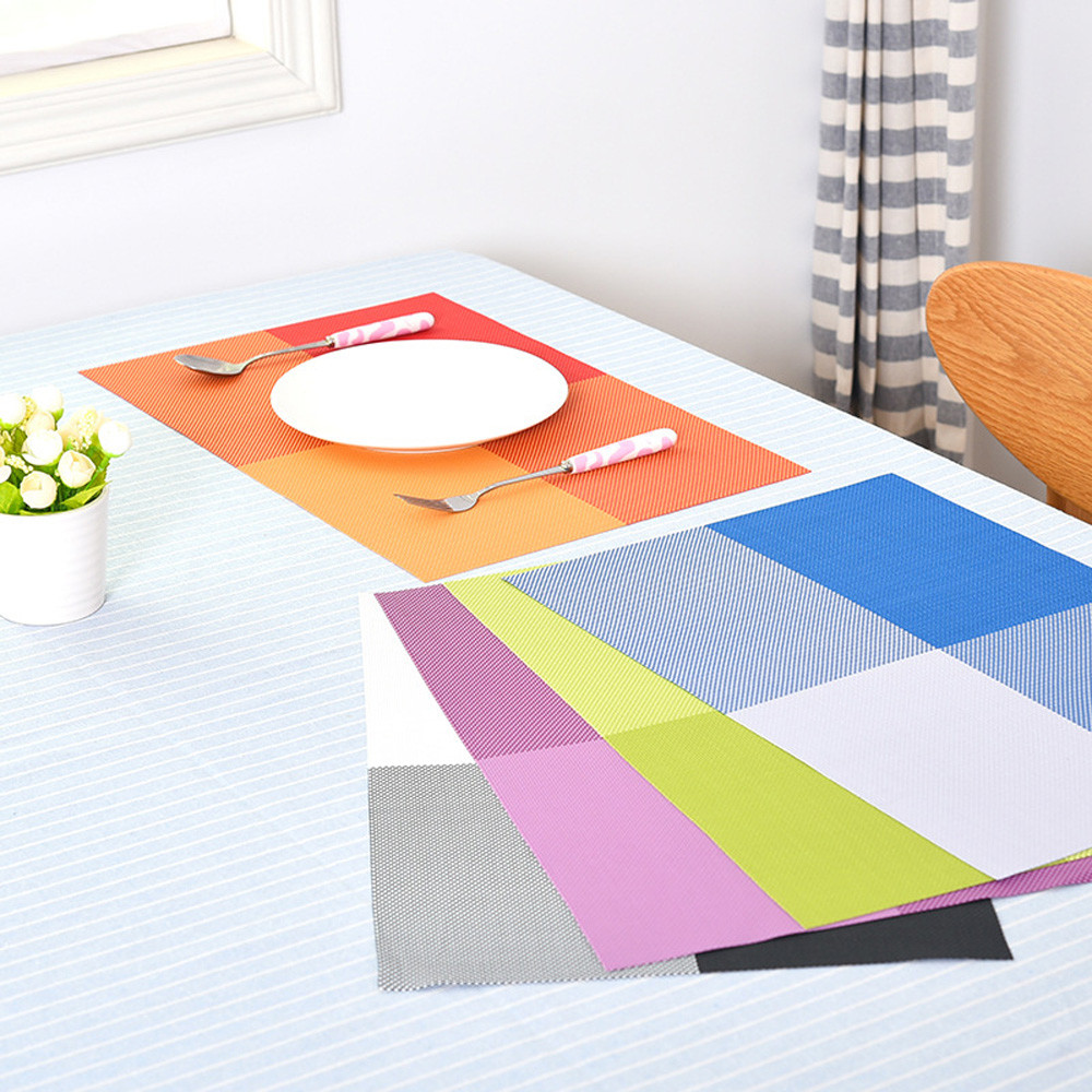 Europe Style Table Mat PVC Heat-insulated Placemat Dinning Bowl Dining Table Pad Table Decoration Accessories Kitchen Tool F925