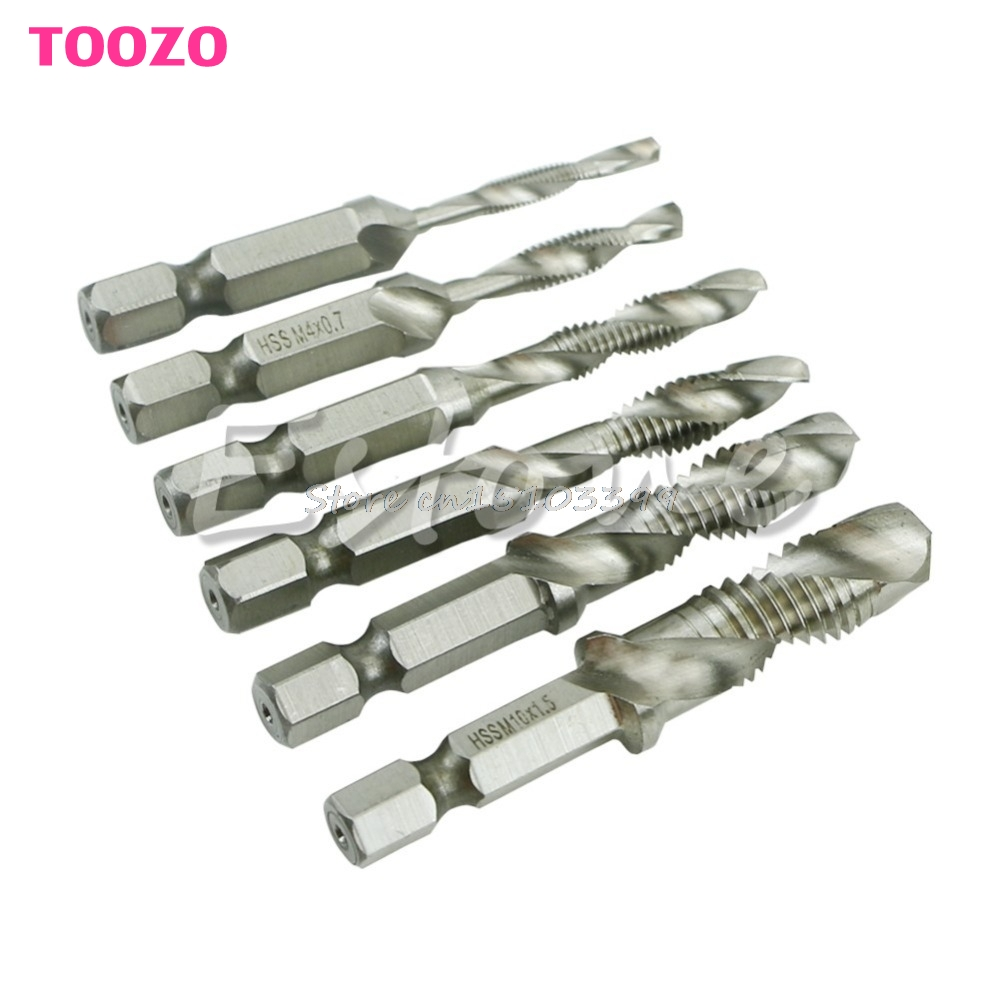 6Pcs High Speed HSS Machine Screw Thread Metric Plug Hand Tap Drill Bits M3-M10 G08 Drop ship free shipping of 1pc hss 6542 full cnc grinded machine straight flute thin pitch tap m37 for processing steel aluminum workpiece