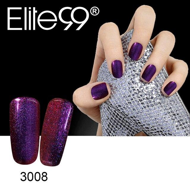 Elite99 Weg Tränken Bling Chameleon Farbwechsel Gel Polish UV LED Lack 5 ml UV Base Top Coat Nagel Gel polnischen Auf Verkauf