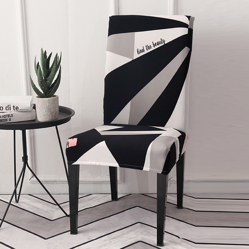 Lellen черный белый чехол для стула тянущийся сиденье накидка на стул эластичная чехлов офисные для стула, банкетки обеденном свадьбы, Рождест...