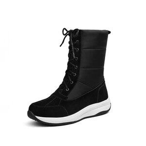 Image 3 - MORAZORA 2020 최신 여성 발목 부츠 스웨이드 가죽 + 방수 스노우 부츠 여성 패션 캐주얼 신발 여성 겨울 부츠