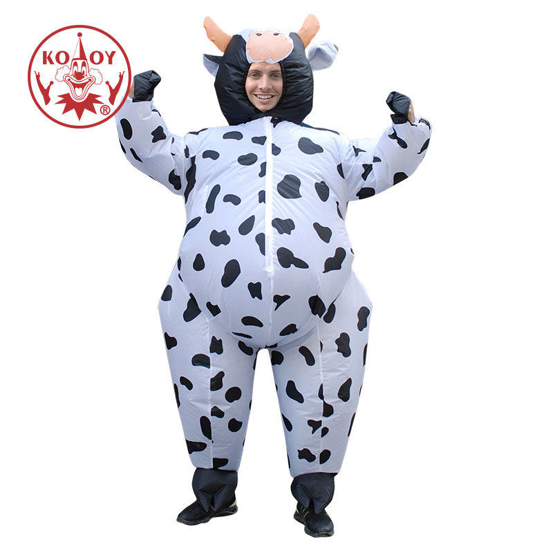 Inflatable Cow Costume For Man Adult Fancy Dress Air Blown Christmas Halloween Purim Party Clothes