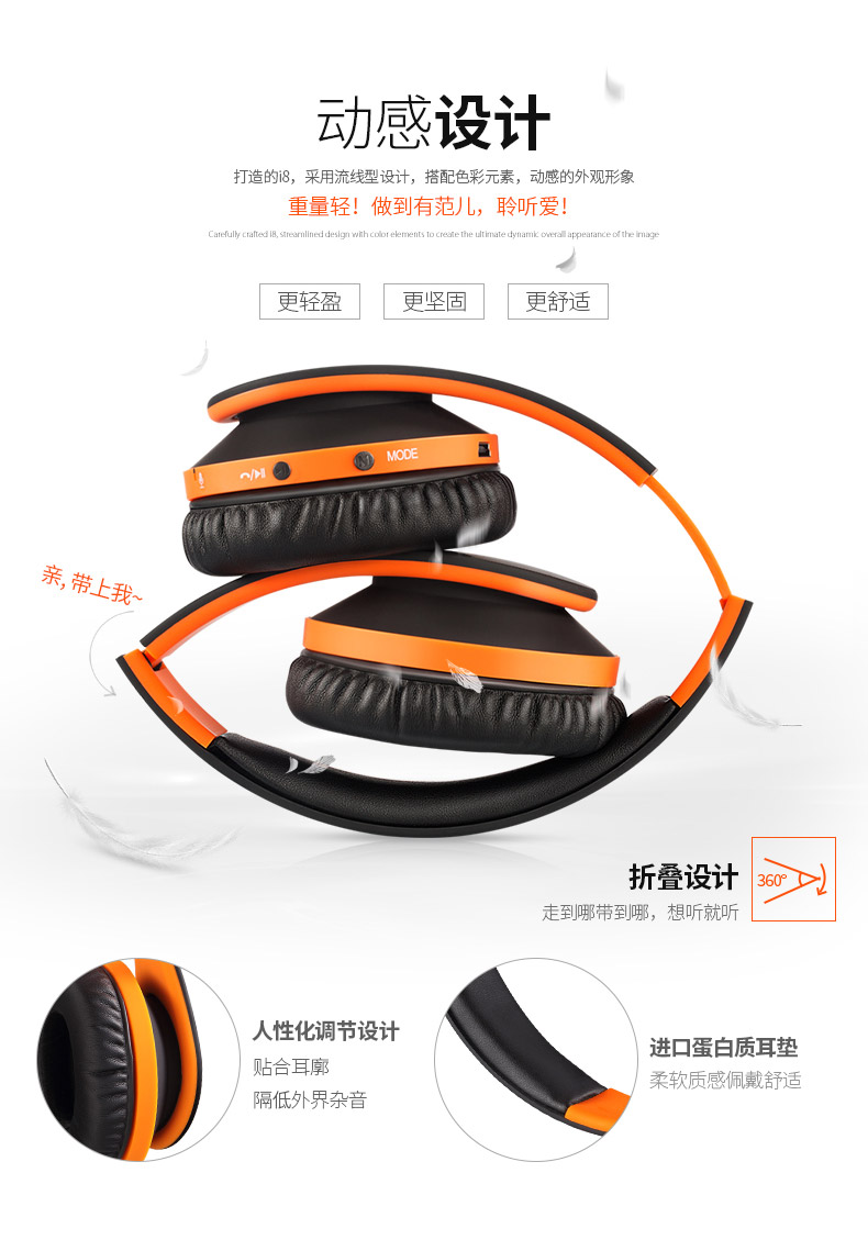 foldable bluetooth headphones  Stereo bluetooth headset wireless headphones for phones music earphone earpiece IFKOO kz headset storage box suitable for original headphones as gift to the customer