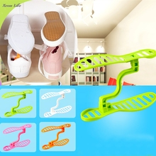 ISHOWTIENDA 2017 New 1 Pair 20*6*12cm Household Portable Closet Storage Shoes Rack Holder Organizer Space Saver  Shoe Rack