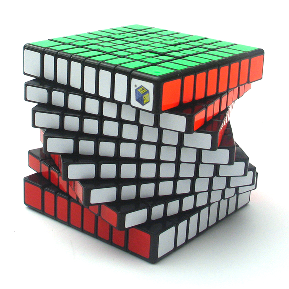 8*8*8 Black Professor Rubiks Cube Competition Speed Magic Cube Puzzle Educational Toys for Children