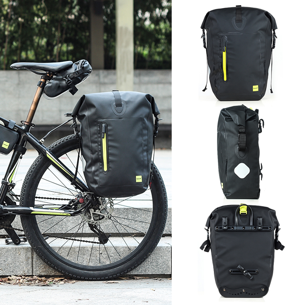 Anti-tear Waterproof MTB Bicycle Saddle Bag Back Pack Bike Pannier Rear Rack Bag