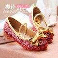 Princesa Giltter Crianças Sapatos Meninas Sapatos Crianças Sandália de Praia Champagne Rosa Azul Crianças Meninas Vestido De Menina Sapatos TX94