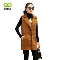 GOPLUS Fluffy Faux Fur Vest women Zipper Waistcoat Autumn Winter Sleeveless Outerwear Double side Coat Soft Overcoat Female Top
