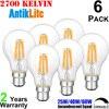 AC/220/230/240/V 4/5/6/7/8/W A60 Bayonet Cap LED Filament Light Bulb, Standard (Classic Pear) Shape B22 LED Antique Replica Bulb