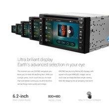 "6.2 ""172x97mm Pantalla Táctil de coches reproductor de dvd gps 2din en el tablero de navegación Bluetooth USB FM + 8G SD envío mapa"