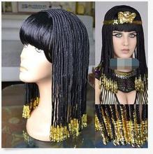 Hot Sell !!!  Egyptian Cleopatra Nightclub show Costume Wig