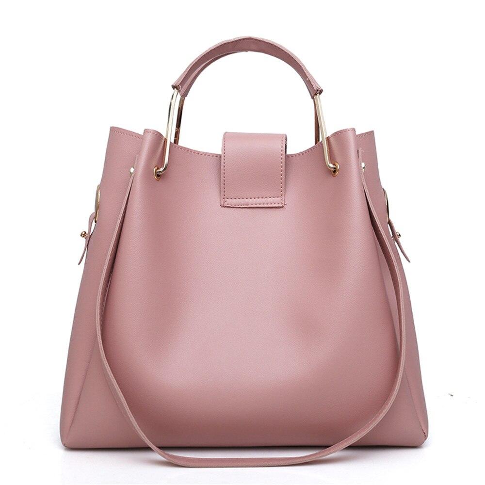 Women 3Pcs Set Handbags PU Leather Shoulder Bags Casual Tote Bag Tassel  Metal Handle Designer Composite Messenger Bag Purse Sac-in Top-Handle Bags  from ... f364533eb6672