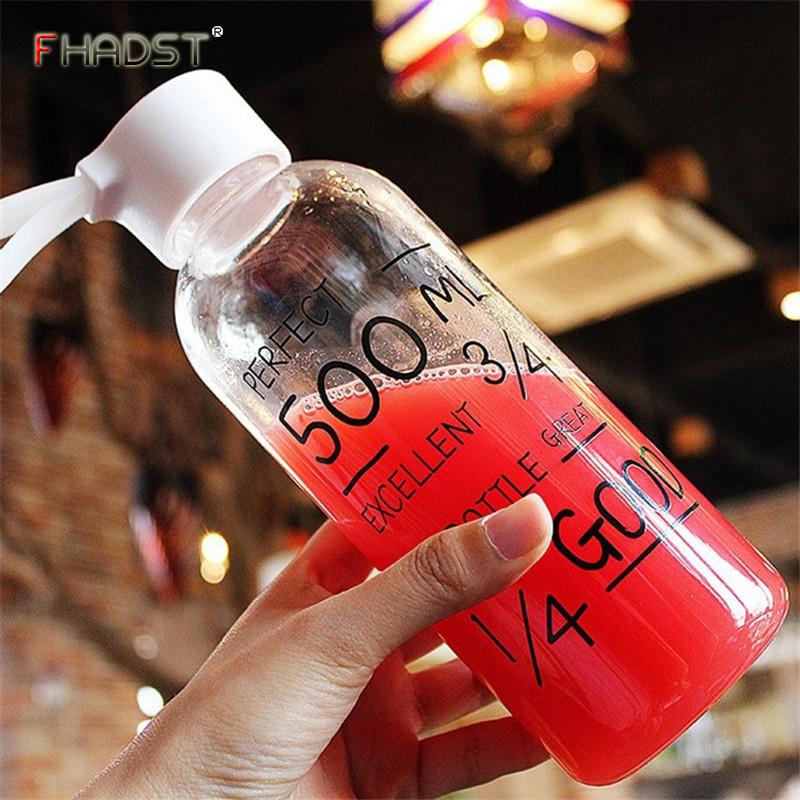 600ML Hot Portable Plastic Fashion Water Bottles Best Quality Outdoor Lovely Bottle Sports Leak-Proof Free BPA Gifts For Girls